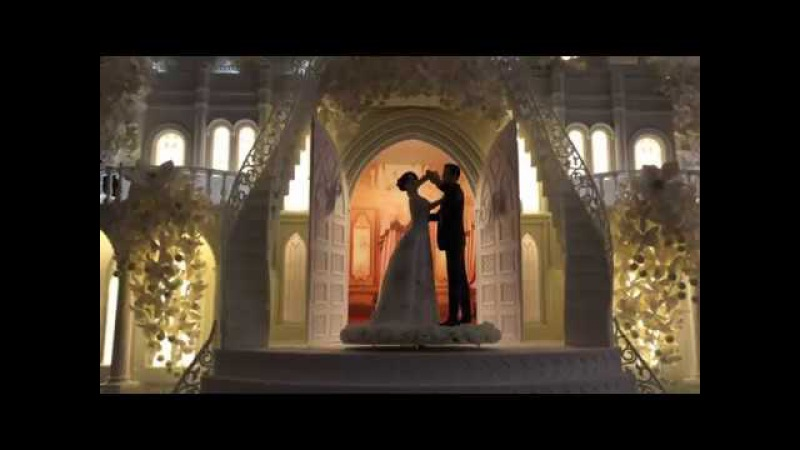 Торт Замок от Рената Агзамова. Выезд Жениха и Невесты из торта.