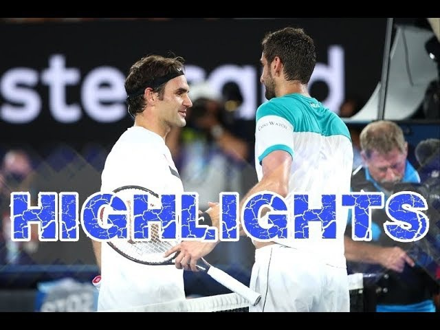 2018 АО Federer vs Cilic ● Highlights 50fps