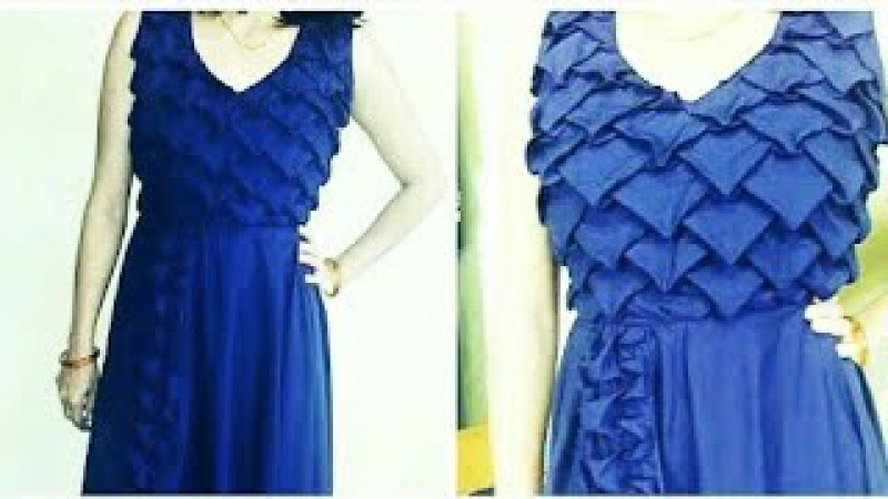 Smocking design FROCK dress Origami pattern Advance method