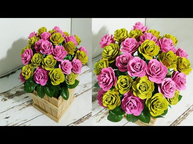 DIY Beautiful Roses from Upcycled Egg Carton Box - DrNGO
