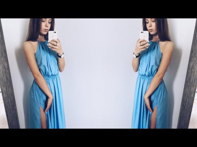 DIY   Шьём платье с резинкой по талии и со сборенным верхом