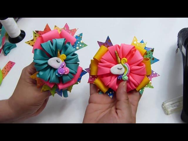Como Hacer Lazos FAciles para Diademas Moños sencillos Flores de Liston