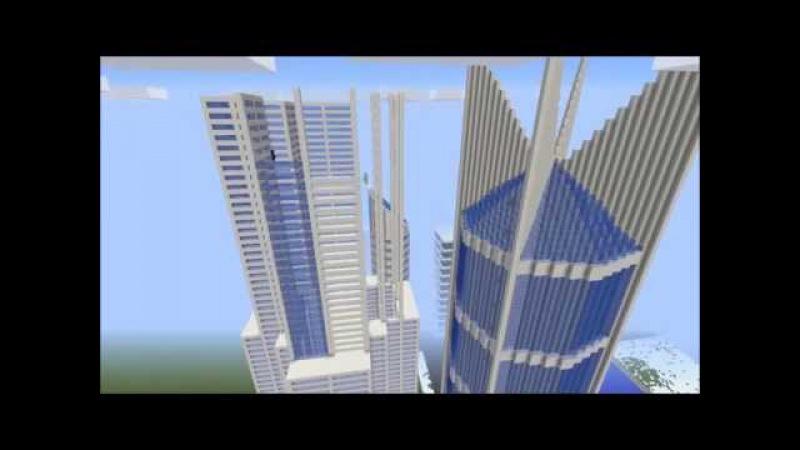 Minecraft Timelapse City School Project 2015
