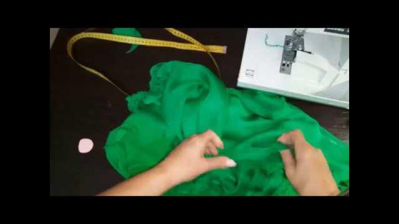 Как сшить платье из шелка без выкройки. Обработка деталей изделия из шелка.ЧАСТЬ 2