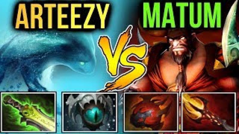 Arteezy vs Matumbaman - 10k Morphling Spammer vs 9k Centaur Picker Dota 2 7.10