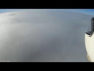 mini Talon, fog, clouds, sun and water