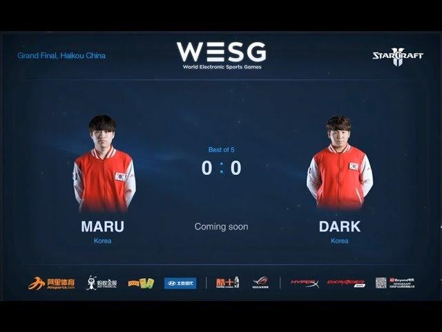 GRAND FINALS (Bo7) Maru vs. Dark (TvZ) Part 1 Starcraft 2 WESG 2018 Stage 2 Haikou China