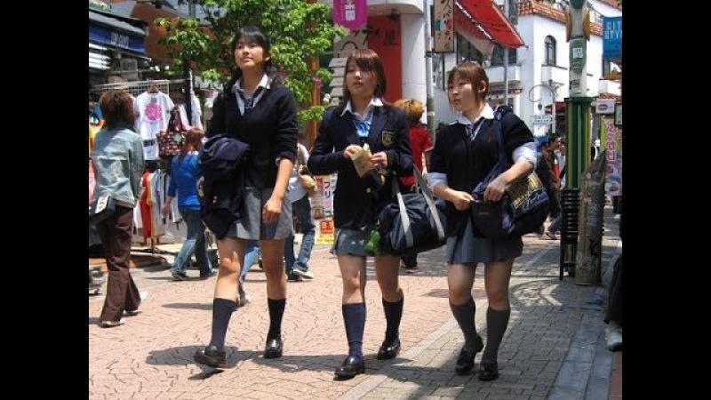 Японские ночные истории. Японские школьницы.