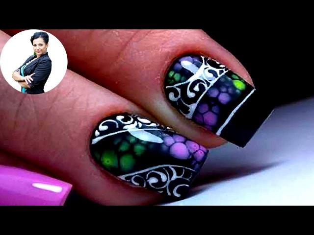 Самый ПРОСТОЙ и самый Крутой дизайн ногтей по мокрому и вензеля   Удивителные дизайны ногтей