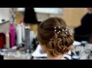 Вечерняя прическа.Прическа на длинные и средние волосы.Evening braided updo for long and medium hair