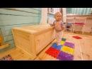 Большой деревянный ящик для хранения чего нибудь сундук ларь