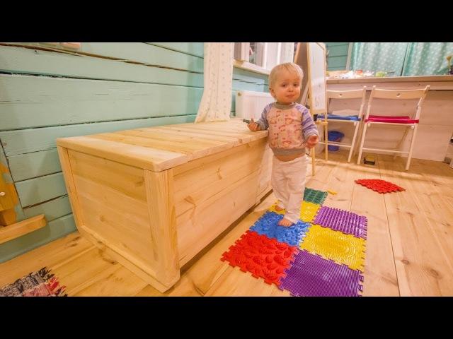 Большой деревянный ящик для хранения чего-нибудь (сундук/ларь)