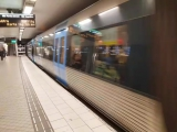 Stockholm subway #3 - The C20 train is arriving to T-Centralen station line 19