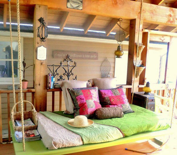 Маленькие мелочи для уютной веранды