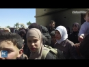 Civilians in Eastern Ghouta fleeing violence to hoped-for safety