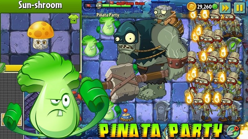 Plants vs. Zombies 2 || Sun-shroom Costume || Pinata Party 3/24/2018 (Ep.91)