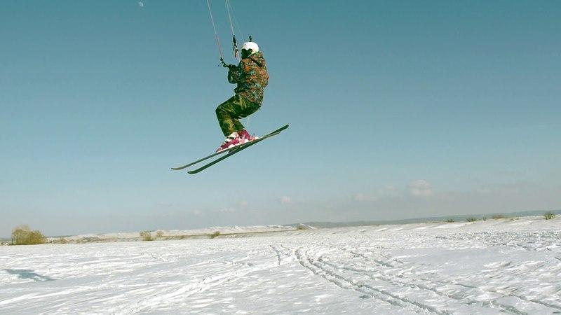 Солнечная каталка Snowkiting in Salavat