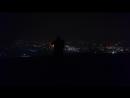 Сантин ката с Киай Кёкусинкай карате в ночи