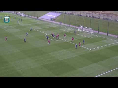 Gol de Leo Messi en el entrenamiento vespertino