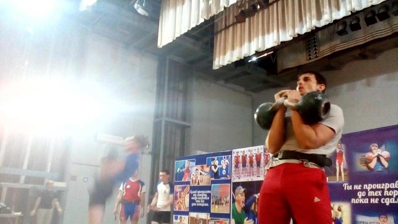 Выступление нашего ученика Сослана Хасцаева на Кубке Победы РСО-Алания по гиревому спорту, 2-е место.