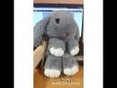 Сумка кролик серого цвета из экомеха