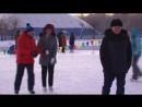 Мэр Омска вышла на лёд в Рождество