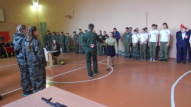 выступление учеников Большекуликовской СОШ Мачина Анна Шитиков Роман