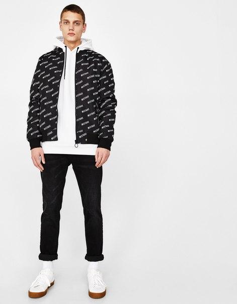 Куртка-бомбер с надписью