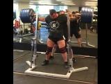 Алекс Симон приседает 350 кг
