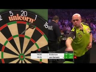 Michael van Gerwen vs Gary Anderson (2018 Premier League Darts / Week 3)