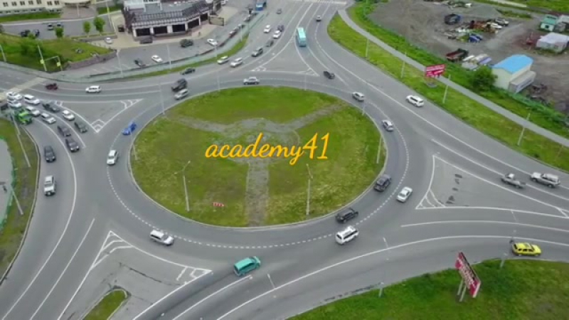 Порядок проезда перекрестков с круговым движением