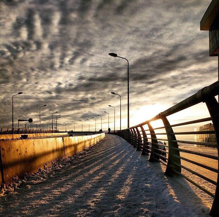 Необыкновенное небо над Яхтенным мостом