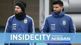 MESSI TRAINS AT CITY WITH AGUERO! INSIDE CITY 289
