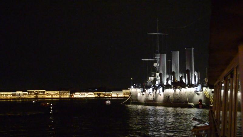 Аврора. Санкт-Петербург, ночные прогулки на теплоходе, сентябрь 2017