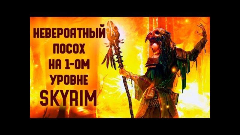 Skyrim | НЕВЕРОЯТНЫЙ ПОСОХ НА 1-ОМ УРОВНЕ И ТАЙНА ДВЕМЕРОВ!