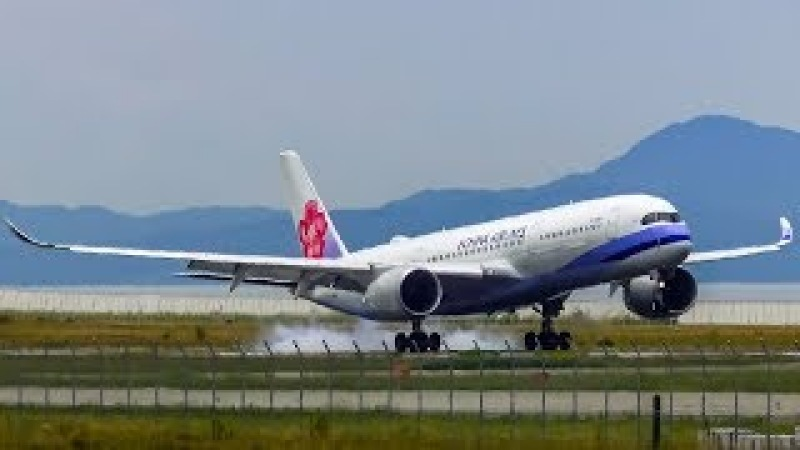 [4K] Landing Plane at Osaka Kansai Airport 大阪関西国際空港の着陸飛行機Посадка самолетов в аэропорту Кансай KIX