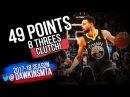 Stephen Curry Full Highlights 2018 1 27 vs Celtics UNREAL 49 Pts 8 Threes CLUTCH FreeDawkins