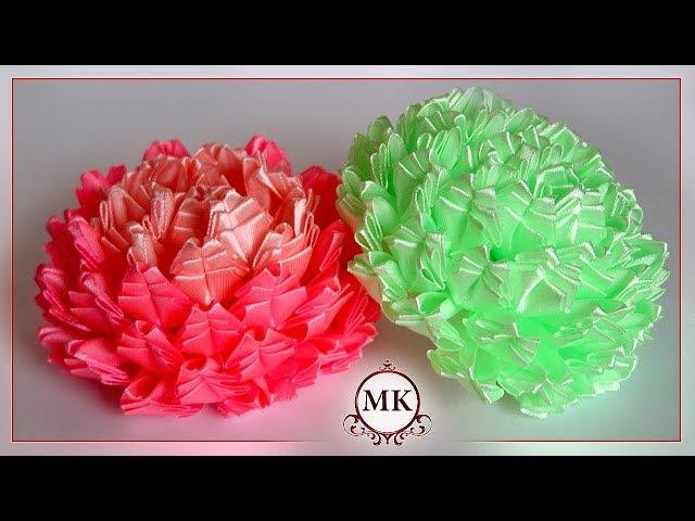 Красивые цветы из лент. Канзаши. МК. / DIY. Beautiful ribbon flowers. Kanzashi.