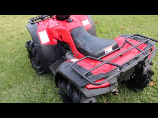 2004 Honda Rancher ES 4x4 (TRX350) walk-around while idling