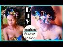 How-to DIY Flower Headband/ Flower crown Dashiki African print