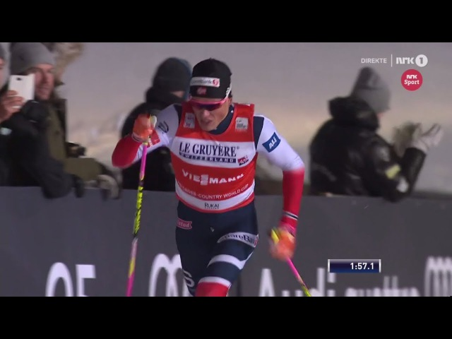 Johannes Høsflot Klæbo AMAZING WIN - Mens sprint [C] - Final - Kuusamo 2017