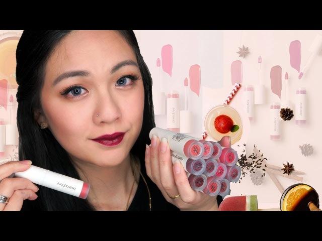 INNISFREE 비비드 크리미 틴트 Vivid Creamy Tint | Full Lip Swatches Review