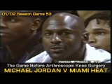 Michael Jordan's Last Game Before The Arthroscopic Knee Surgery - Wizards @ Heat (02.24.2002)