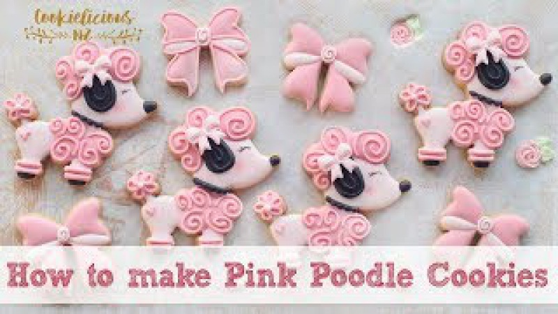 PINK POODLE COOKIES Learn how to make this cute pooch cookies
