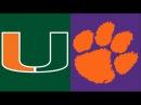 2017 College Football: (#7) Miami vs. (#1) Clemson (ACC Championship) (Full Game)