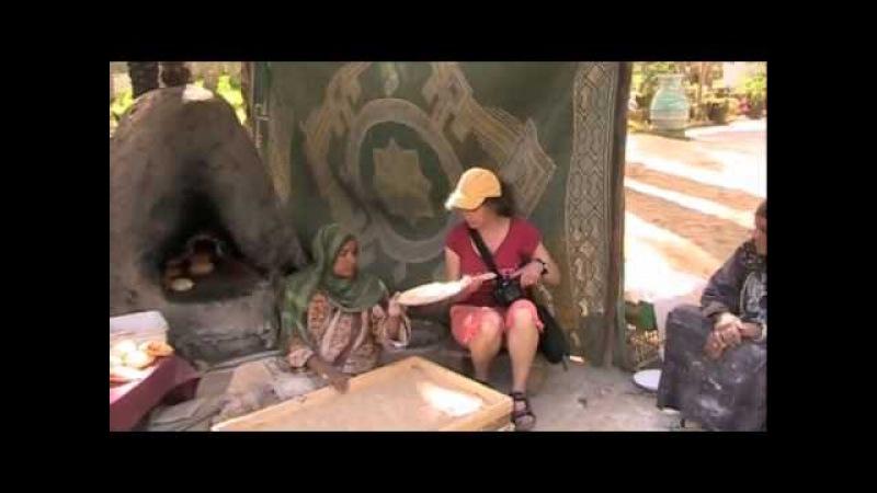 Sheila Tries to Make Bread Near The Sakkara Pyramid, Egypt