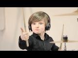 Мальчик играет на барабанах Матвей Журавлёв Ghostbusters (Walk the Moon cover)