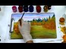 Правополушарное рисование - видео урок Осенний пейзаж. Экспресс-курс от школы Артефакт.