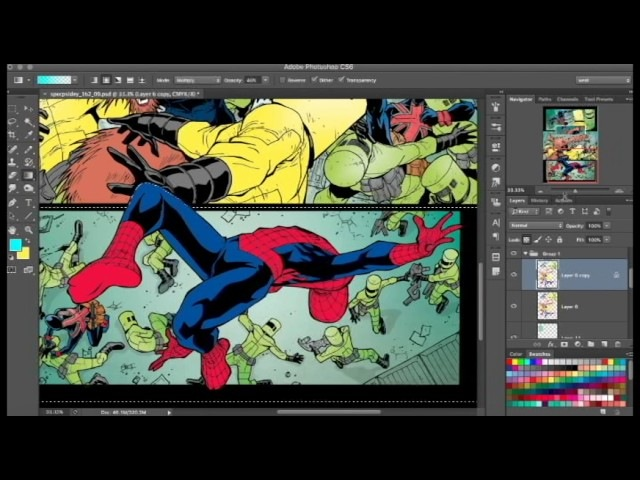 Another comic coloring Spiderman video