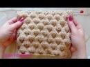 Объемный узор в технике клоке Вязание спицами 292